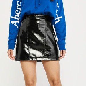 Abercrombie black patent skirt